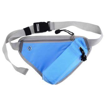 Triangular Waist Bag Tas multi function triangle waist bag blue lazada indonesia