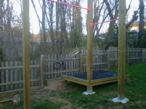 Pull Up Bar Backyard by Wood Workout Equipment And Crossfit