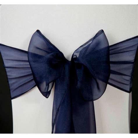 Noeud Mariage Chaise by Noeud De Chaise Mariage En Organza Bleu Marine Noeud