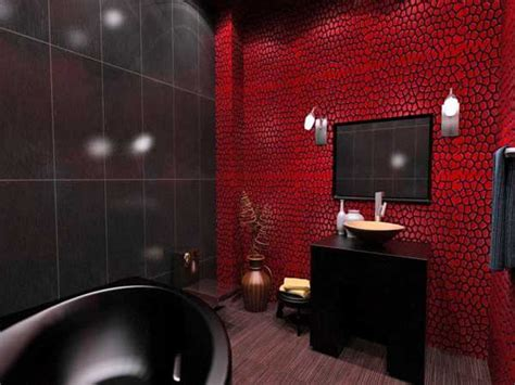 dark red bathroom red black and white bathroom decor brown exposed ceramic