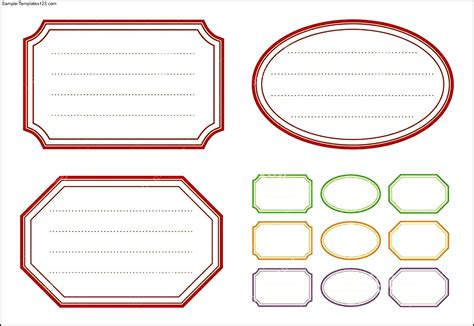 sticker template free sticker label templates sle templates