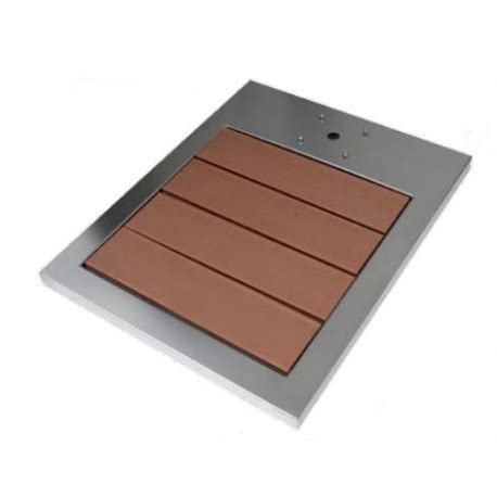 accessori per doccia acciaio piatto doccia in acciaio inox e legno esotico