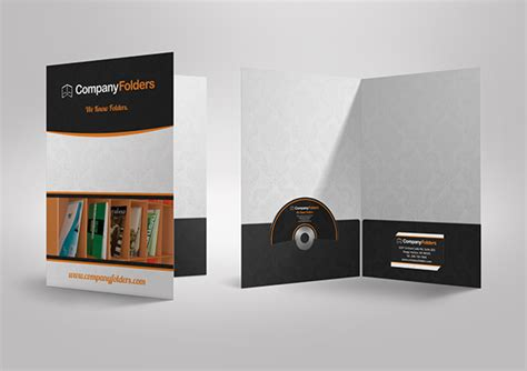 Free Psd Presentation Folder Mockup Template On Behance Free Folder Mockup