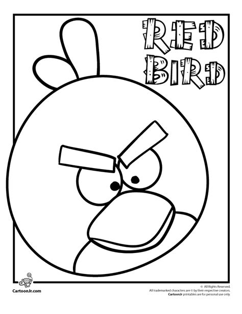 Angry Birds Coloring Pages Red Bird | angry birds printable coloring pages