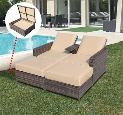 outdoor furniture lounge chairs ebay 3pc rattan wicker chaise lounge chair patio furniture set