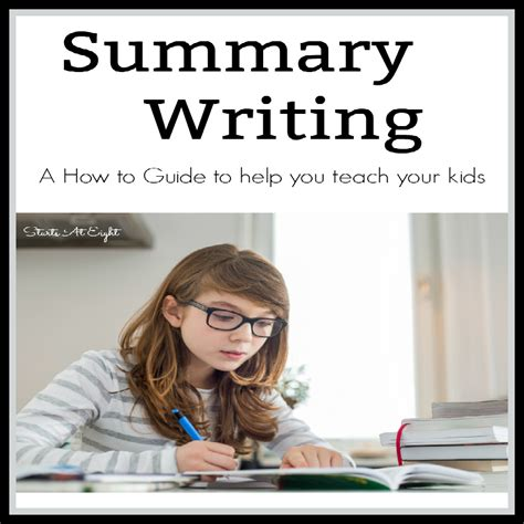 summary writing how to for startsateight