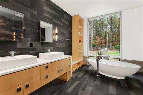 fliese schwarz schwarz im badezimmer holz schrank badezimmer
