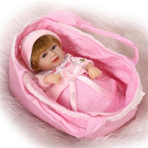 Baby Alive 11 Vinyl Mini Newborn Baby Dolls Boy Boneka Gift npkcollection mini reborn baby doll 10 inch vinyl baby alive toys gift basket