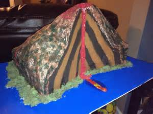How To Make A Paper Mache Volcano For - my daughters science project volcano has been created