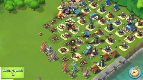 layout editor boom beach hq 16 17 hammerman defense layout boom beach youtube