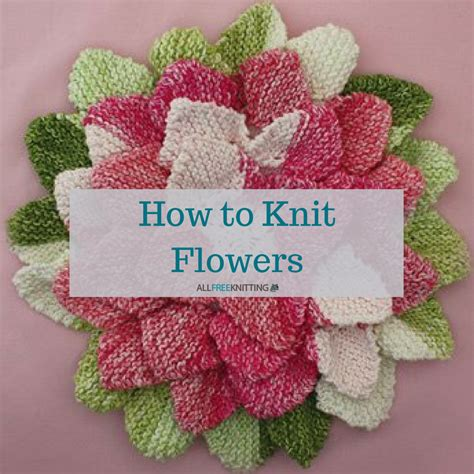 wool and buttons free knitting patterns how to knit flowers 39 easy knitting patterns