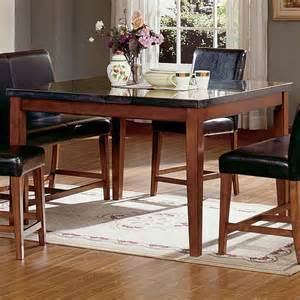 Granite Table Top Dining Sets Steve Silver Montibello 7 Granite Top Counter Height Square Dining Table Set At Hayneedle