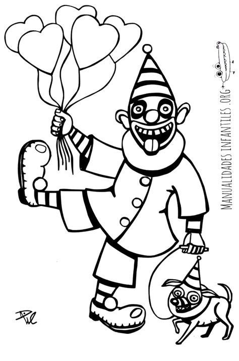 dibujos infantiles para colorear de payasos dibujo de payaso con globos manualidades infantiles