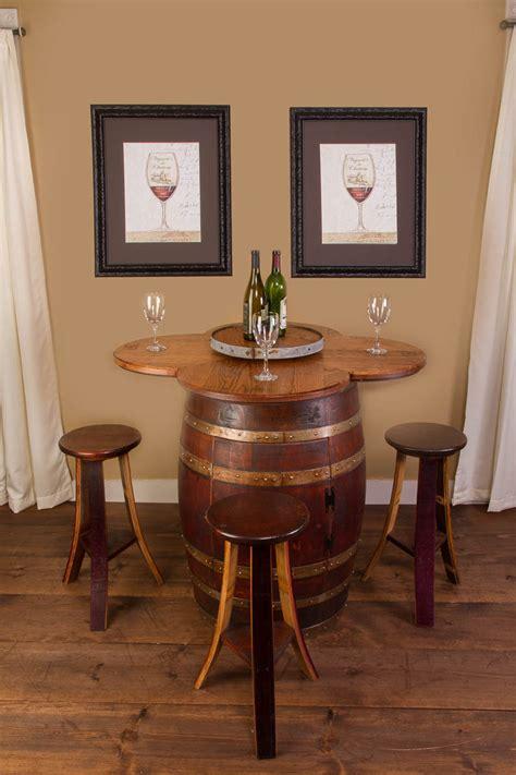 wine barrel table set cabinet base napa east