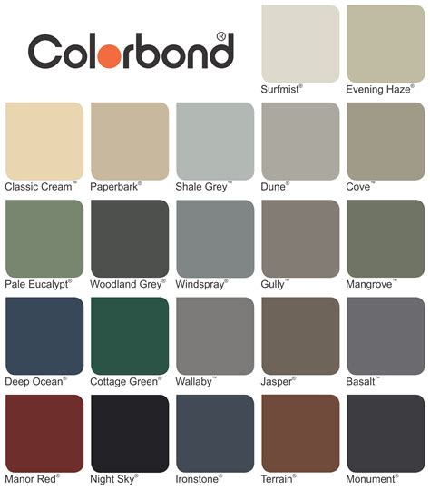 colorbond colours search fences search house colors and house