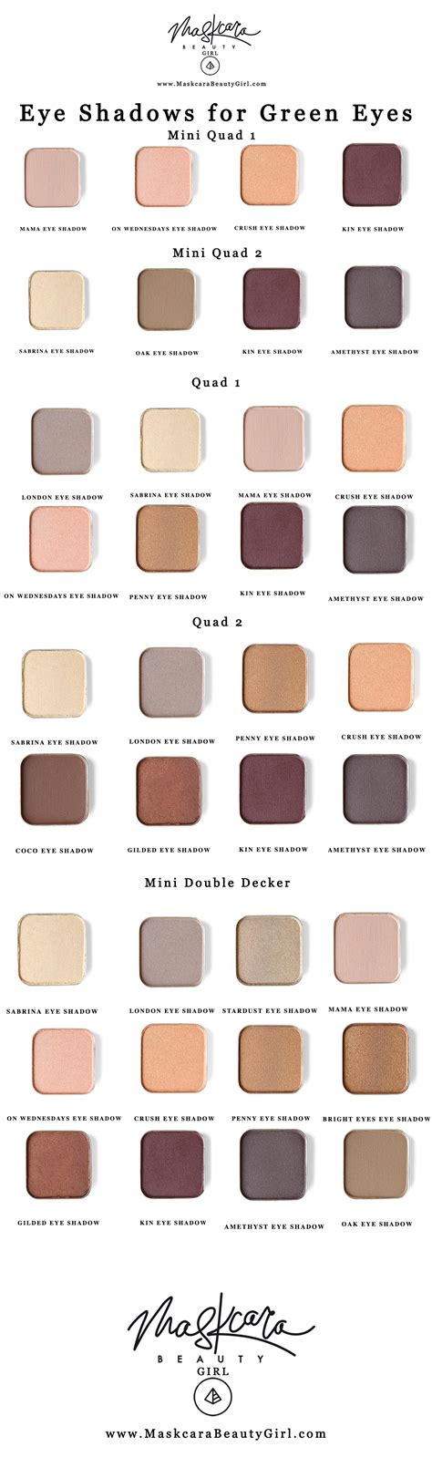 eyeshadow colors for green best eyeshadow for green with maskcara makeup
