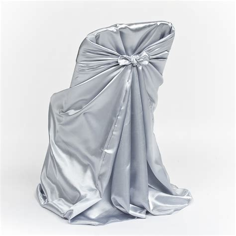 gray banquet chair covers grey satin folding chair cover luxe event rental