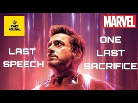 iron man speech avengers endgame love