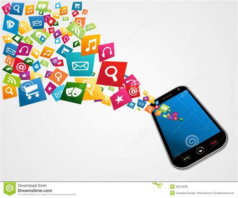 free mobile applications mobile computer applications stock vector image 32019039