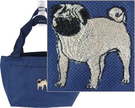 pug rescue rochester ny pug insulated lunch bag cooler rescue new puppy monogram embroidered by rk s