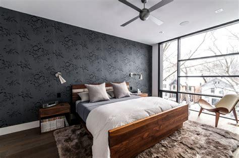 schlafzimmer tapete modern tapete in schwarz f 252 r die wandgestaltung 40 ideen tipps