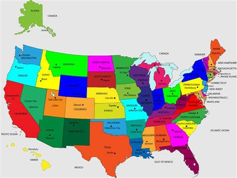 us map individual states united states map us map