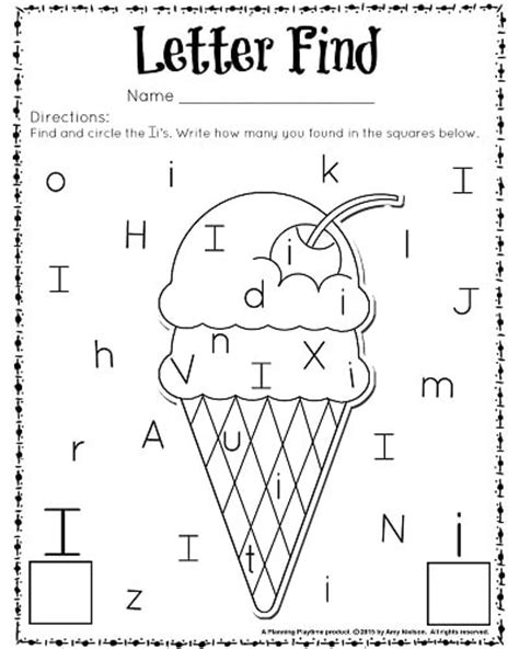 Find By Recognition Letter Find Worksheets With A Freebie Planning Playtime