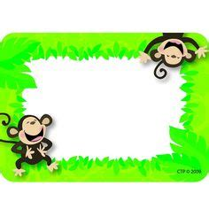 printable monkey name tags printable monkey name tags things to use in the