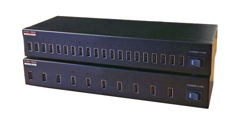 10 port 20 port usb charging sync hubs powersolve
