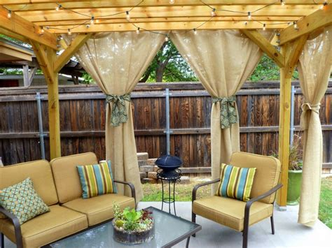 outdoor draperies top outdoor curtains for pergola home designing