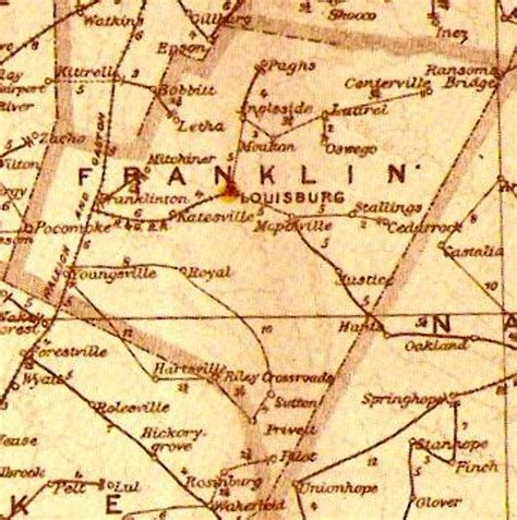franklin map 1896 franklin county postal routes