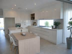 Kitchen Island Table Perth Contemporary Coastal Kitchen Essastone Benchtops Polar