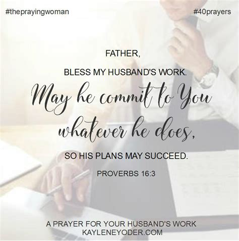 40 scripture based prayers to pray your husband the just prayers version of a s 40 day fasting and prayer journal books 40 prayers for my husband his work kaylene yoder
