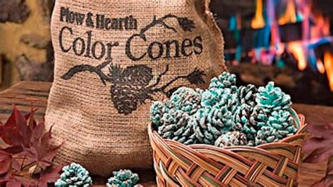 Colored Pine Cones For Fireplace by These Diy Fireplace Pine Cones Change The Color Of The