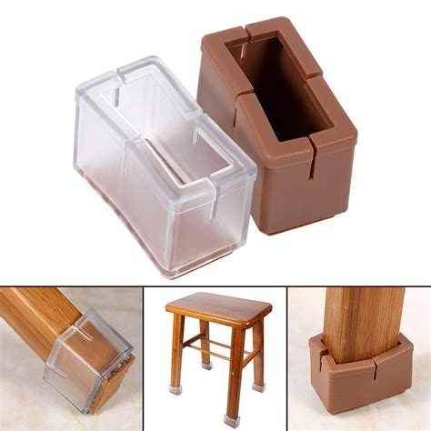 chair floor protectors 8x table chair stick leg rectangle cap cover