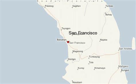 san francisco quezon map san francisco location guide