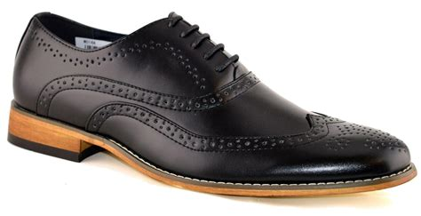mens leather lined smart wedding lace up brogues formal dress shoes size 6 12 ebay