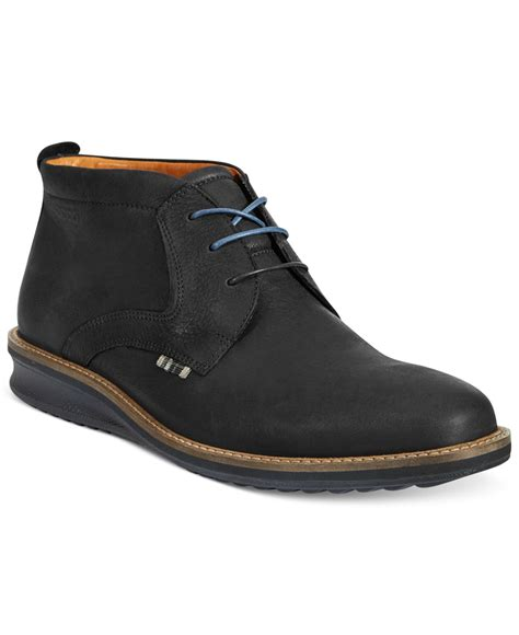mens low boots ecco contoured low cut boots in black for lyst