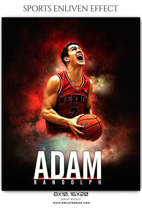Adam Randolph Basketball Sports Enliven Effects Photoshop Template Digital Photo Backgrounds Photoshop Sports Templates