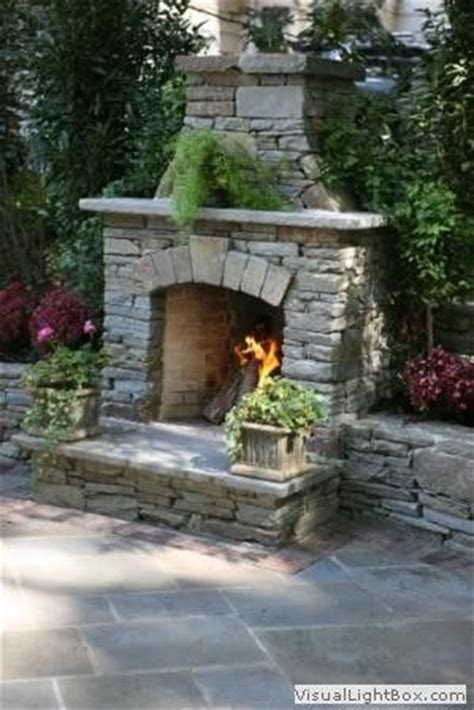 outdoor rock fireplace sandstone in landscaping landscaping