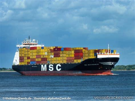 msc vessel schedule to msc mediterranean type of ship cargo ship callsign