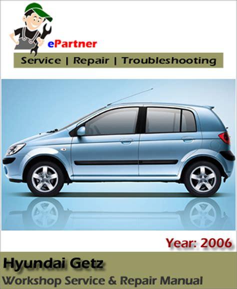 Hyundai Getz Tb Click Service Repair Manual 2006 2008