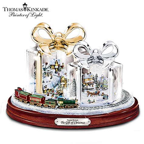 thomas kinkade the gift of christmas table centerpiece ebay