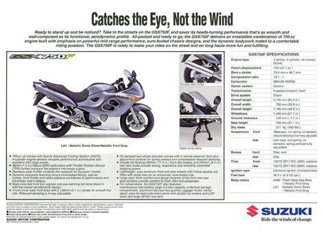Suzuki Brochure Suzuki Gsx750f Brochures