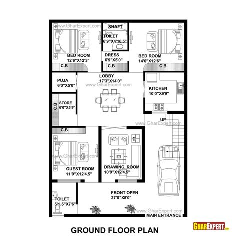 home design plans 30 60 30 x 60 house plan map