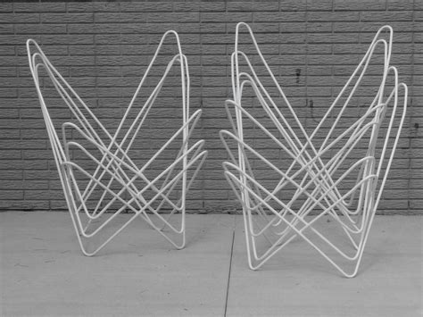 wrought iron butterfly chair assembled set of eight white frame wrought iron butterfly