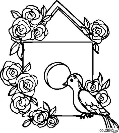 coloring pages bird houses coloring page bird house coloring me