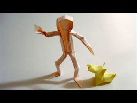 How To Make A 3d Paper Person - origami claudio acu 241 a j
