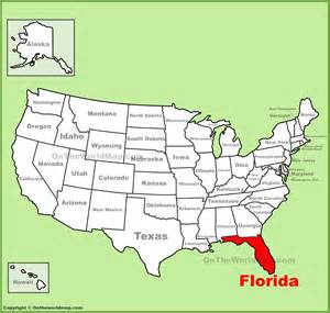 florida map in usa deboomfotografie