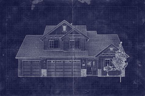how to make a blueprint of a house how to create a blueprint effect in adobe photoshop